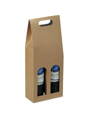 Wine carrier box 2-bottle 183x90x445mm Natura